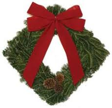 24 in cocoa chic real live fraser fir christmas wreath fresh