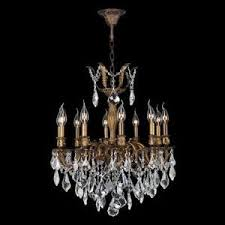 Crystal And Bronze Chandelier Antique Crystal Chandelier Ebay