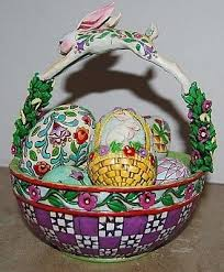 jim shore easter baskets jim shore heartwood creek easter basket 6 eggs springtime surprises