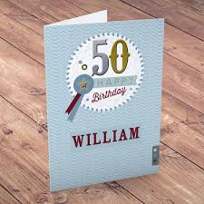 martini birthday card personalised 50th birthday cards card factory