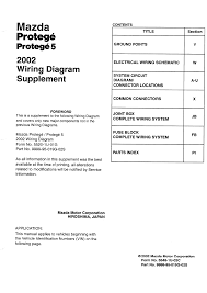 mazda protege 2003 wiring diagram supplement documents