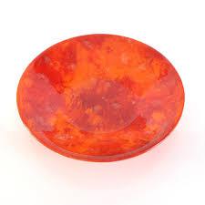decorative fruit bowl modern decorative glass fruit or serving bowl in red u0026 orange