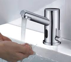automatic bathroom and cold water mixer tap electronic hands
