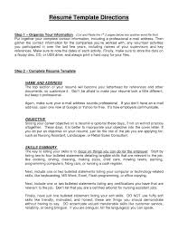 Resume Examples Objective Statement by Resume For Cleaning