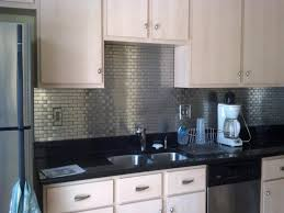 Kitchen Backsplash Lowes Stainless Steel Subway Tile Backsplash Decor Homes Lowes