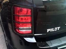 honda pilot tail light black horse 03 08 honda pilot black tail light guards 7g151006a ebay