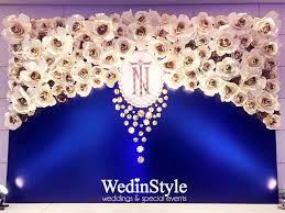 wedding backdrop blue photobooth luxury wedding by wedinstyle the stylish wedding