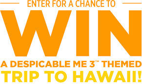 Sweepstakes by Win A Vacation In Hawaii On Tic Tac Despicable Me 3 Sweepstakes