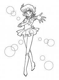 free printable sailor mercury girls coloring pages cartoon
