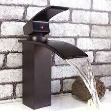 black faucets top waterfall black bathroom faucet regarding black faucets for