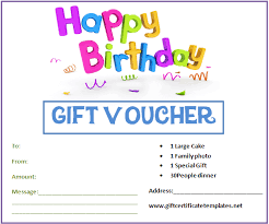 birthday gift certificate template best business template