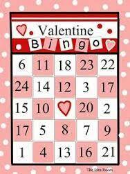 bingo game template valentine u0027s day candy hearts heart bingo