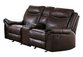 aram dark brown airehyde match reclining sofa u0026 loveseat set