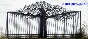 home gate design 2016 tree driveway gates designs plasma cut by jdr metal art