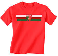 Portugal Football Flag Portugal World Cup 2018 Retro Strip T Shirt Football Mens Ladies