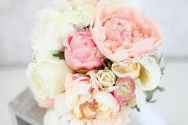 silk peonies peonies in blush and pastel alternative wedding bouquet