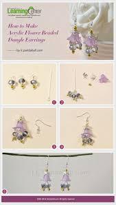 make dangle earrings tutorial on how to make acrylic flower beaded dangle earrings from
