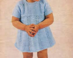 vintage baby knitting pattern u0027s knitted dress am019