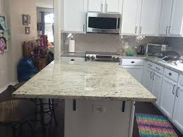 Kitchen Island Granite Countertop Antique White Granite Countertops Installation Kitchen