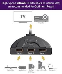 hdmi cable amazon black friday deals amazon com fosmon hd1831 3 port hdmi switch with pigtail cable