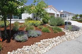 extremely front yard rock designs arizona desert landscape design