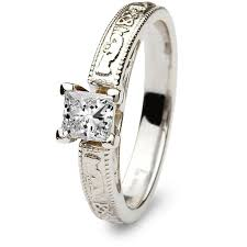 claddagh engagement ring claddagh engagement ring sl br2w princess