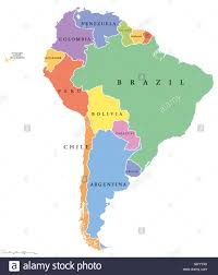 map of america with country names south america single states political map all countries in