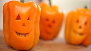 how to make jack o lantern stuffed peppers kin community youtube