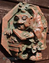 keeping funny monk garden wall plaque