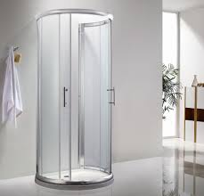 check out this shower makeover using discounted travertine stone shaped portable shower stall