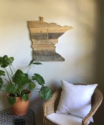 minnesota state sign reclaimed wood pallet sign home