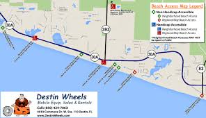 Navarre Beach Florida Map by 30a U0026 Destin Beach Access Destin Wheels Rentals In Destin Fl
