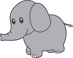 simple elephant clipart clipartxtras