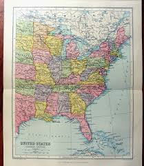 Map Of Eastern States by Large Map Of Eastern United States America 1922 Atlas Antique