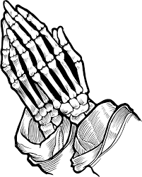 praying skeleton clipart design droide