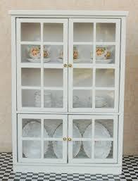 vitrine pour cuisine 7 28 1 12 dollhouse miniature meubles de cuisine blanc armoires