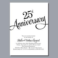 Matter For Invitation Card 25 Anniversary Invitation 25 Anniversary Invitation Cards Matter