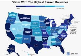 Wisconsin Breweries Map by America The Brew Tiful Mapping The Best Brewery In Each State