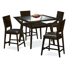 Glass Dining Table 4 Chairs Dining Table Furniture Ideas Mystic Counter Height Table And 4