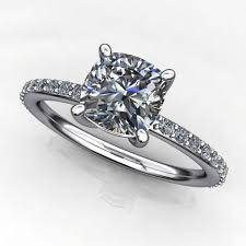 5 Carat Cushion Cut Engagement Rings 1 Carat Cushion Cut Forever One Moissanite Engagement Ring