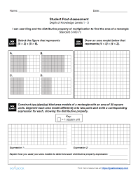 Area And Perimeter Worksheets 4th Grade 3 Md 7 Area Using Multiplication U0026 Addition Math Measurement