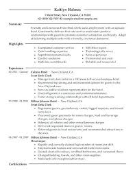 Front Desk Hotel Resume Sample Resume For Hotel Jobs Front Desk Clerk Resume Example