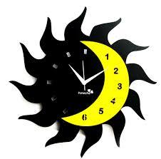 panache aluminum wall clock