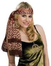 Disco Halloween Costume Headband Belt Scarf Retro Hippie Disco Fancy Dress Halloween