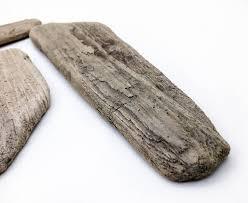 4 Baltic Sea Driftwood Flat Planks Nautical Wood Home Decor