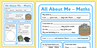 all about me maths display poster worksheet year 5 6 all about