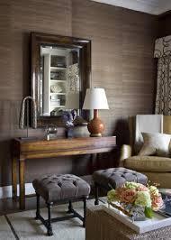 brown grasscloth wallpaper transitional living room philip