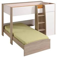 bedroom unfinished wooden l shaped bunk beds with stairs design