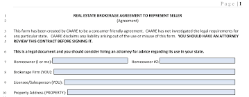 consumer friendly listing contract caare consumer advocates in