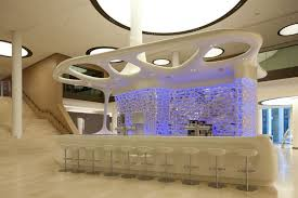 home element futuristic design with violed led light home design